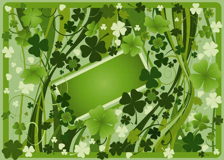 design for St. Patrick's Day with four and three leaf clovers Stock Photo - 2679725