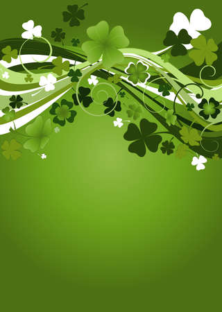 design for St. Patrick's Day with four and three leaf clovers Stock Photo - 2704746
