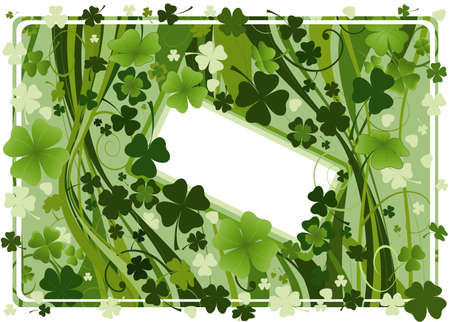 design for St. Patrick's Day with four and three leaf clovers  Stock Photo - 2704753