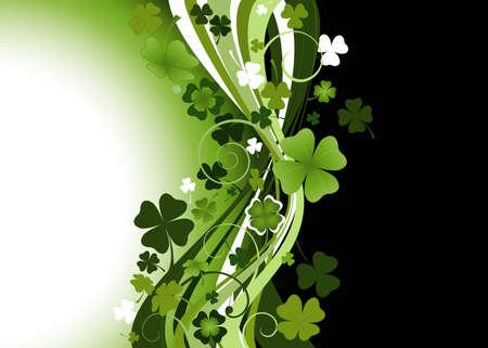 Design für die St. Patrick's Day mit vier und drei Blatt Kleearten