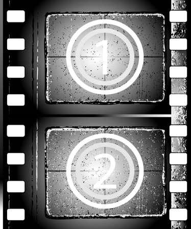 negativity: old grunge textured film strip Stock Photo