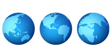 parallel world: planet earth map ; illustration Stock Photo