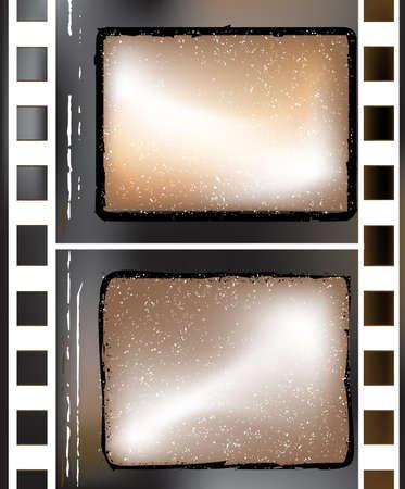 old grunge textured film strip photo