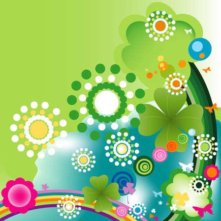 primavera: abstract colorful joyful springtime design