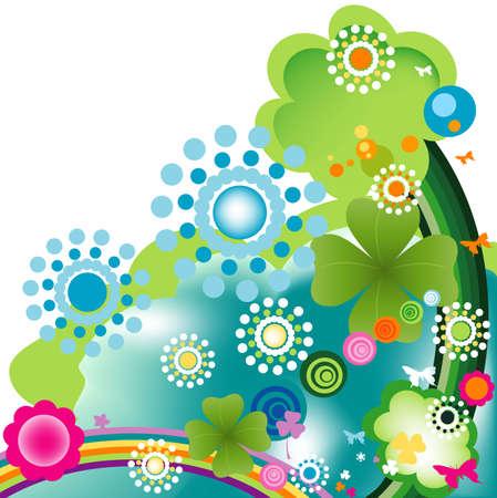 joyful springtime design photo