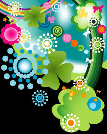 abstract colorful joyful springtime design Stock Photo - 3016332