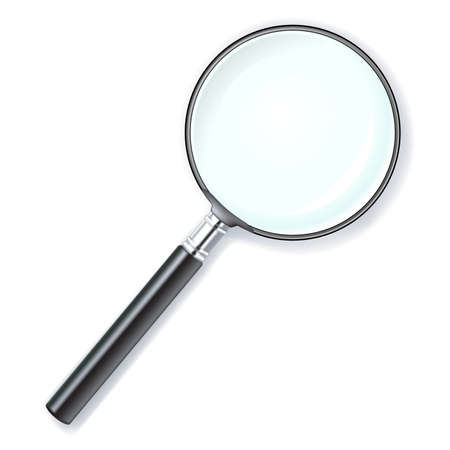 illustration of a magnifying lens over white background Stock Illustration - 3016335