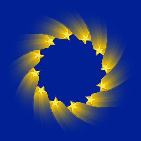 european economic community: stylized version of the european union flag