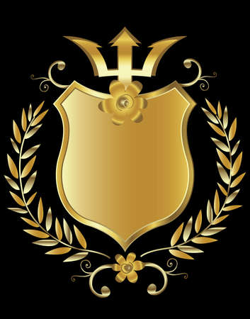 golden shield design Stock Photo - 3080555