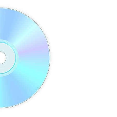 compact disk: illustration of back side of compact disk