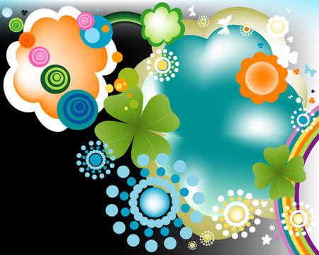 abstract colorful joyful springtime design Stock Photo - 3224294
