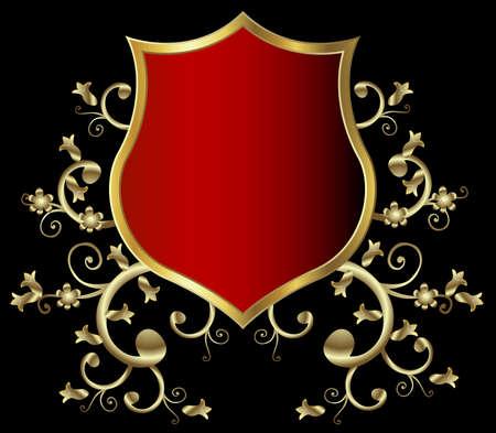 golden shield design, vintage style Stock Photo - 3224291
