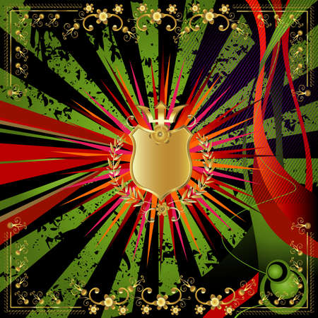 golden shield design  photo