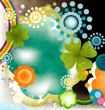 abstract colorful joyful springtime design photo
