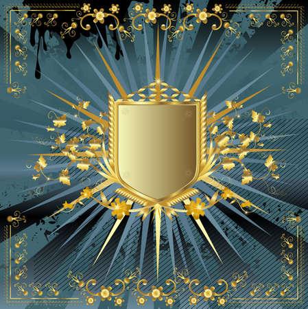 golden shield design Stock Photo - 3266341