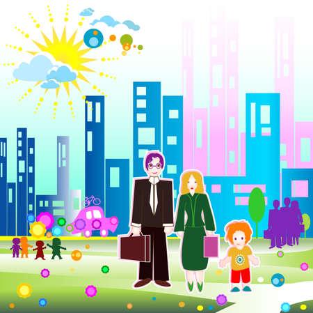 Children world: family and community photo