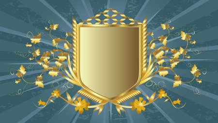 golden shield design  Stock Photo - 3290761