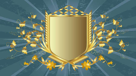golden shield design Stock Photo - 3290761