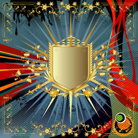 golden shield design  photo