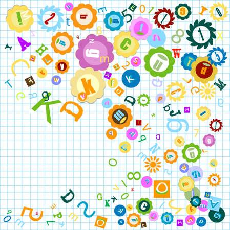 color de fondo con el tema alfabeto para ni�os  Foto de archivo - 3344995