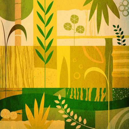vegetal: abstract decorative vegetal design Stock Photo