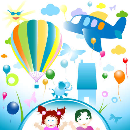 happy world, abstract design for kids Stock Photo - 3401049