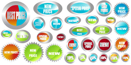 set of different shapes of stickers Stock Photo - 3401043