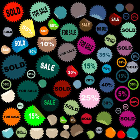 set of sale stickers Stock Photo - 3401045