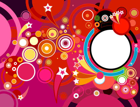 abstract party background with circles Stock Photo - 4258466