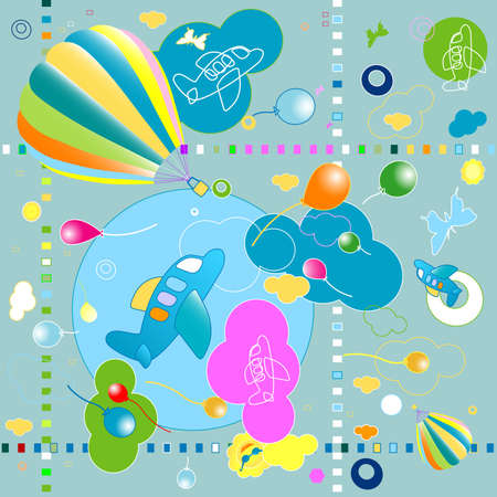 seamless toys pattern, funny background for kids photo