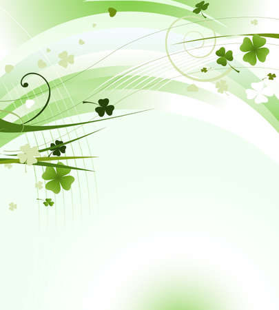 four leafed: design for St. Patricks Day with four and three leaf clovers