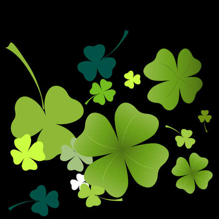fourleafed: three and four leaf clover pattern Stock Photo
