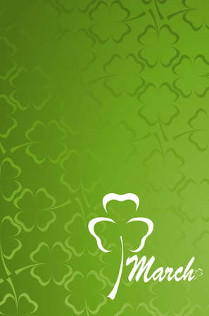 three and four leaf clover pattern Stock Photo - 4384946