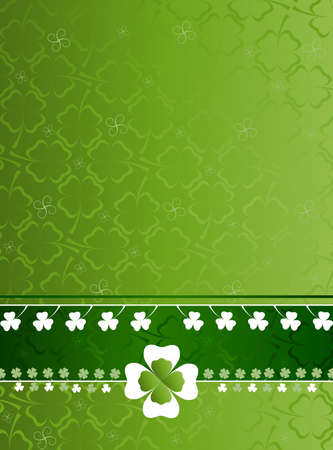 leafed: three and four leaf clover pattern Stock Photo