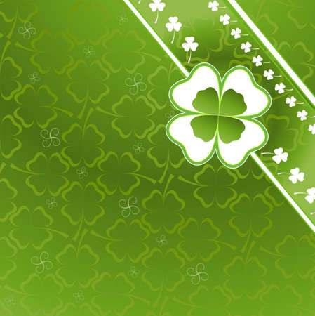 three and four leaf clover pattern Stock Photo - 4384964