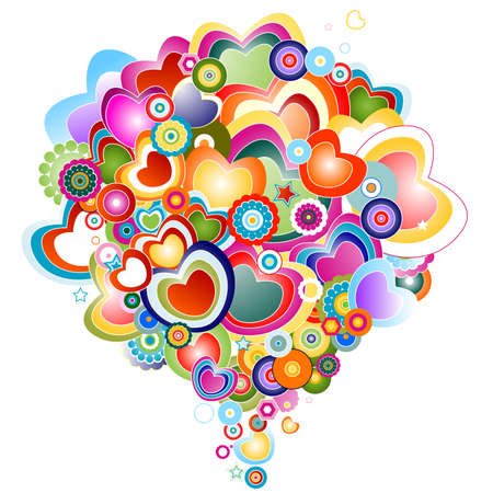 abstract design with love theme