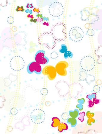 butterflies background for kids