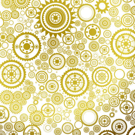abstract clockwork background, seamless pattern with sprockets  photo
