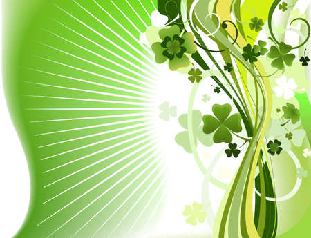 clover background, abstract design Stock Photo - 5512033