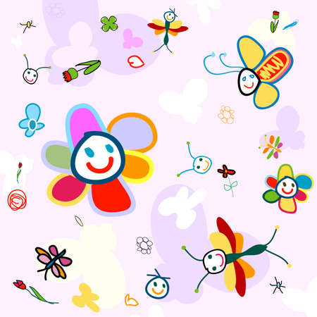 insect background for kids photo