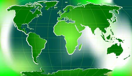 parallel world: illustration of world map with latitudinal and longitudinal lines