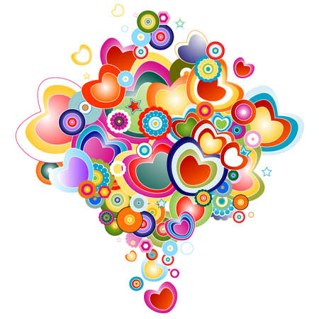 abstract design with love theme photo
