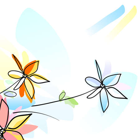 flowers, watercolour style painting photo