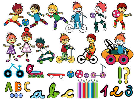 little kids elements with toys photo