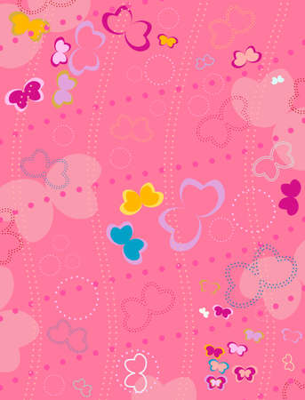 butterflies background for kids photo