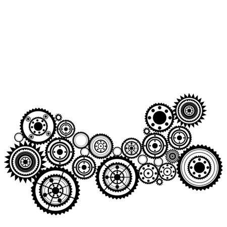 tandwielen: abstract clockwork achtergrond, naadloze patroon met tand wielen
