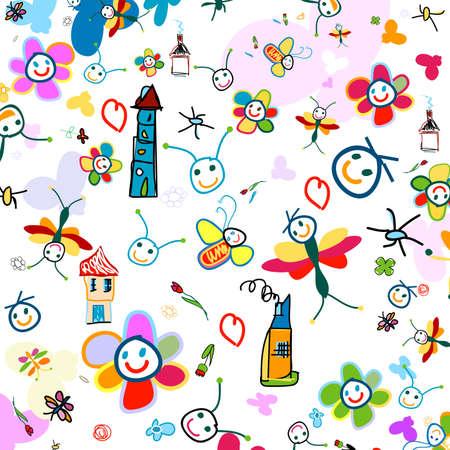 dessin enfants: dr�le d'arri�re-plan pour les enfants