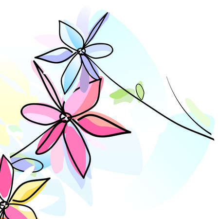 flowers, watercolor style painting photo