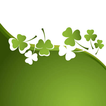 three leafed clover: clover background for the St. Patricks Day