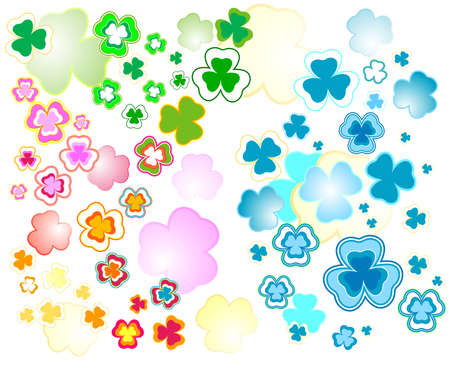 three leafed: clover background for the St. Patricks Day